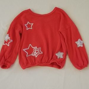 Sweater Red w/ Silver Stars